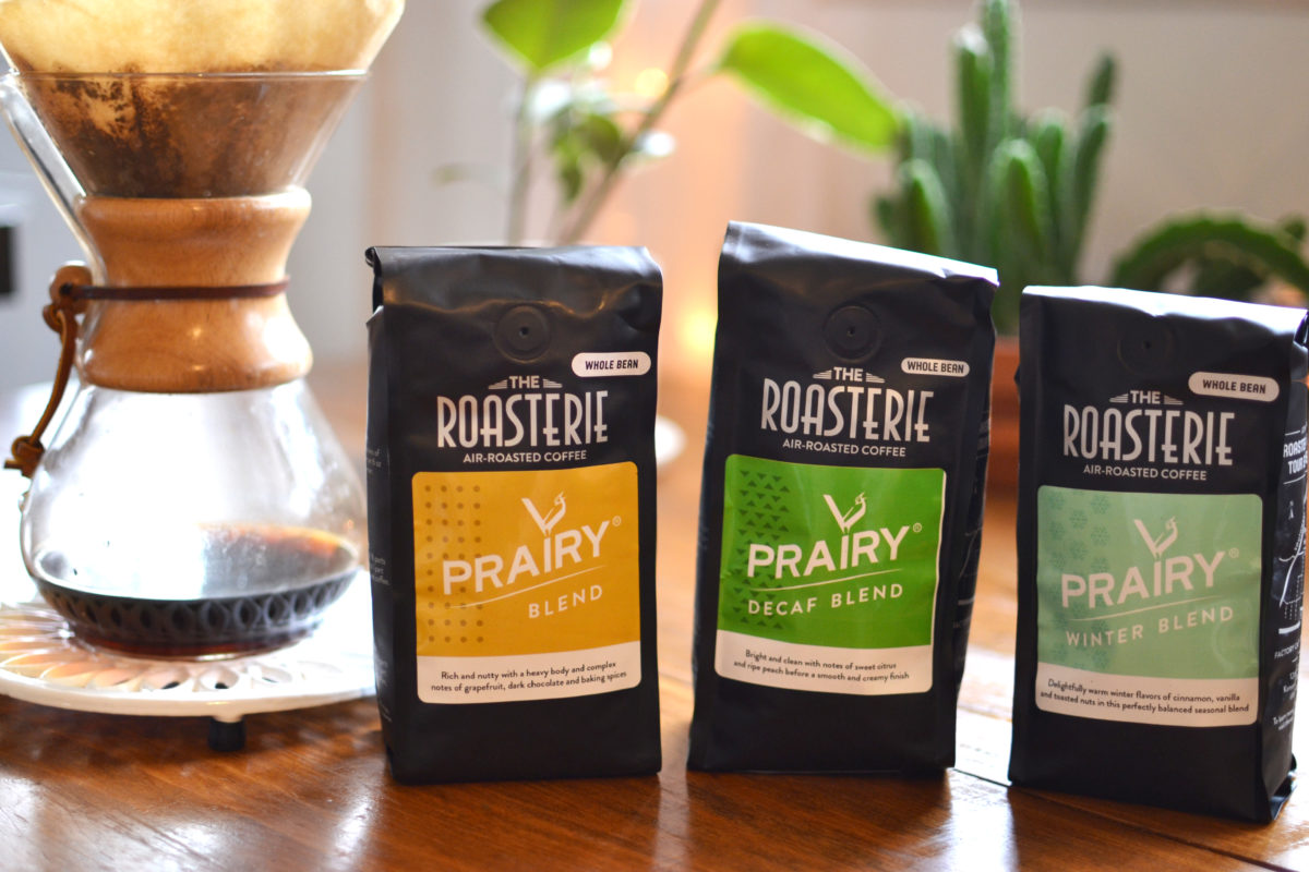 Prairy Market and Deli's own blend of coffee sourced by the Roasterie in Kansas City